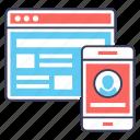 digital account, digital profile, online account, web account, web profile, web user icon