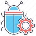 bug configuration, bug maintenance, bug optimization, bug setting, debugging icon