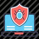 antivirus, computer antivirus, internet bug, internet shield, virus security icon