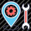 gps setting, location setting, map setting, seo location, seo navigation icon