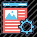 web development, web maintenance, web repairing, web test, webpage setting icon