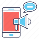 digital marketing, marketing app, mobile marketing, mobile promotion, viral marketing icon