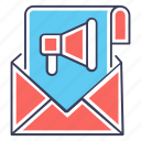 digital marketing, email marketing, marketing app, open email, read email icon