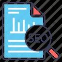 business analysis, business analytics, data analysis, seo audit, seo report icon