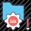 data adjustment, data folder, data management, data setting, database configuration icon