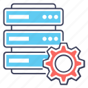 data adjustment, data management, data setting, database configuration, database development icon
