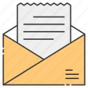 e newsletter, email document, email letter, email newsletter, opening email icon
