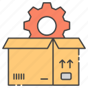 box maintenance, delivery setting, package configuration, package setting, parcel configuration icon