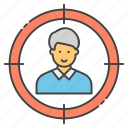 executive search, headhunting, human resource, staff selection, talent hunting icon