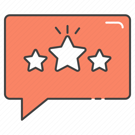 comments, feedback, likes, rating, reviews, stars, testimonials icon