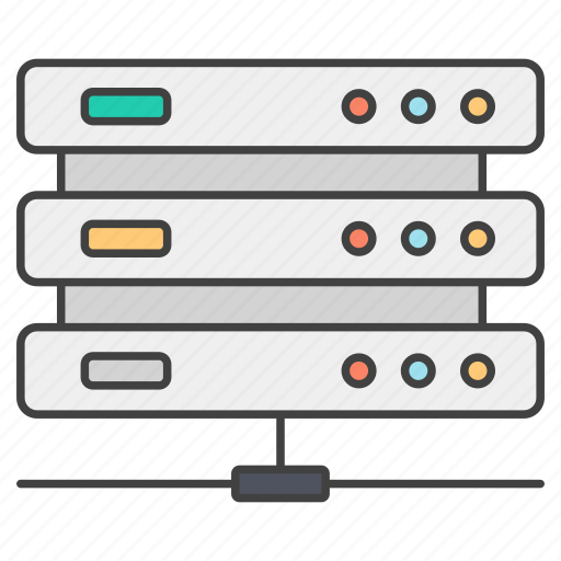 computer server, data storage, database server, datacenter, dataracks, dataserver icon