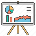 business analytics, business chart, business infographic, business presentation, graph presentation icon