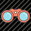 binocular, field glasses, spyglass, telescope, zoom icon