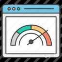 internet speed, speed checking, speed test, speedometer, web gauge, web speed, web test icon