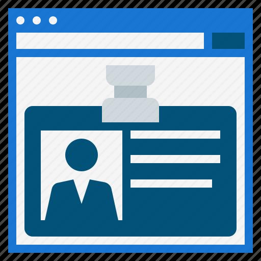 digital profile, internet profile, online profile, profile, web, website profile icon