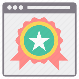 award, badge, favorite, page, star, web, website icon