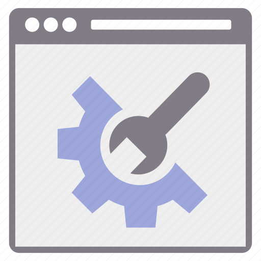 configuration, page, setting, settings, web, wrench icon