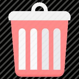 bin, cancel, delete, dustbin, recycle, remove, trash icon