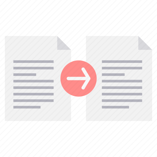content, data, document, file, page, sheet, transfer icon