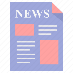 article, blog, letter, media, news, newspaper, paper icon