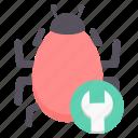 bug, configuration, repair, setting, settings, system, virus icon