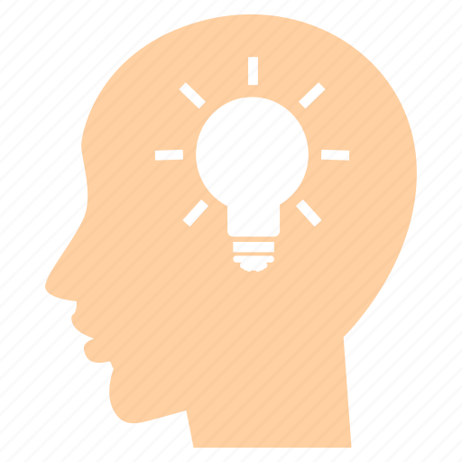 brain, bulb, creative, electric, idea, lamp, light icon