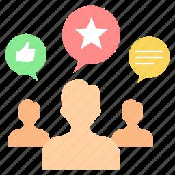 activity, likes, media, response, social, user, users icon