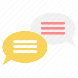 bubble, chat, conversation, feedback, message, speech, talk icon