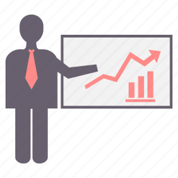 business, chart, finance, graph, presentation, report, statistics icon