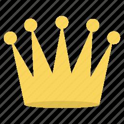 achievement, crown, medal, prince, prize, win, winner icon