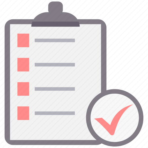 checklist, clipboard, exam, item, items, list, points icon