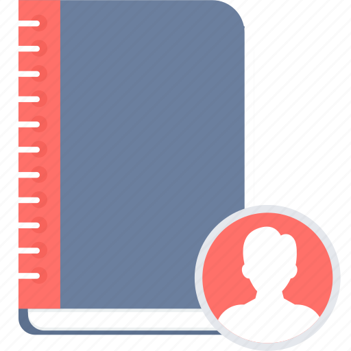 book, contact, contacts, phone, register icon