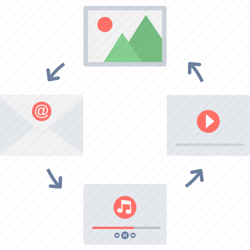 content, management, media, media file, media files, multimedia icon