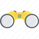 binocular, binoculars, explore, find, magnifier, search, seo icon