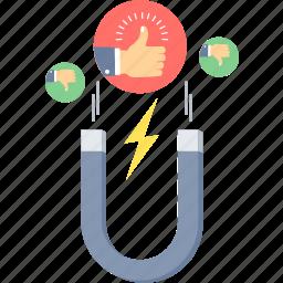 customer, integration, like, reaction icon