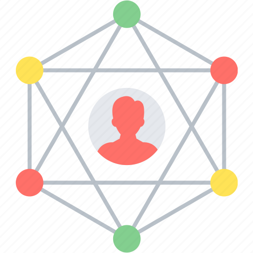 community, connection, link, network, people, social icon