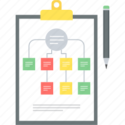 business, clipboard, plan, planning, project, structure, work flow icon