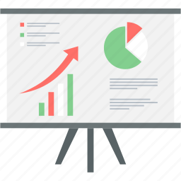 analysis, board, business, diagram, graph, presentation, report icon