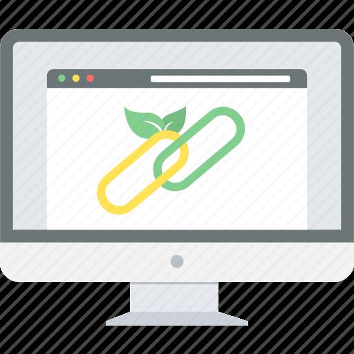 backlink, business, hyperlink, internet, link, url, web icon