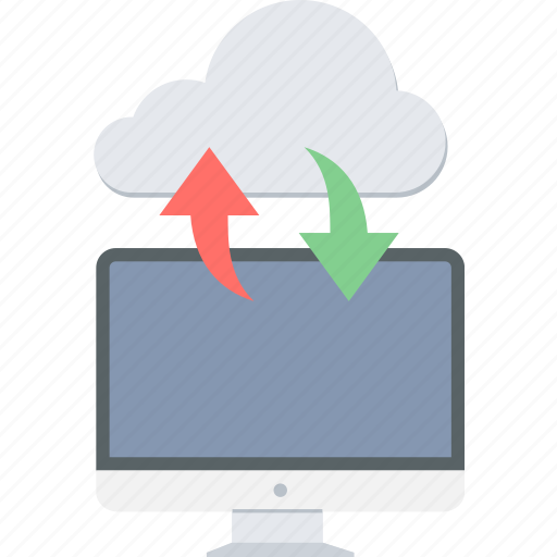 cloud, computer, download, storage, upload icon