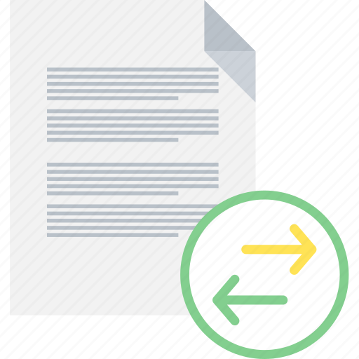 document, format, page, paper, share, sheet, transfer icon