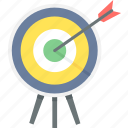 aim, archery, bullseye, dartboard, direction, goal, target icon