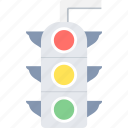 light, road, signal, stop, traffic, traffic lights, transport icon