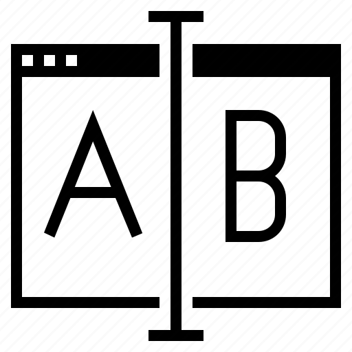 a/b, a/b testing, ab testing, conversion test, landing page, landing page testing, website conversion icon