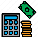 accounting, calculation, calculator, mathematics icon