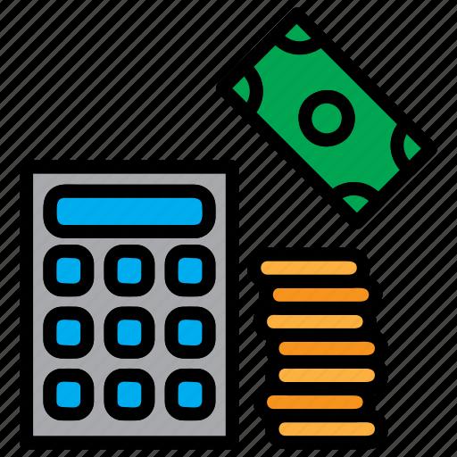 accounting, calculation, calculator, mathematics icon