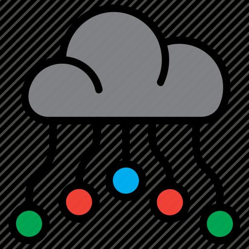 cloud, computing, data, graph, storage icon