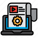 business, computer, laptop, screen, seo, technology icon