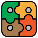 controller, game, jigsaw, puzzle icon