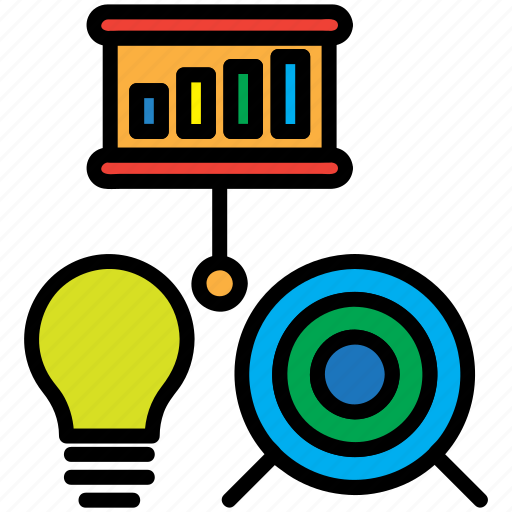 bulb, business, chart, marketing, presentation icon
